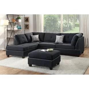 hayden sectional sofa with reversible chaise buy chair bobkona wayfair milani ottoman