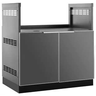 outdoor kitchen bar blue cabinet knobs newage products kitchens you ll love wayfair aluminum glass bbq center