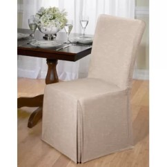 What Type Of Fabric To Cover Kitchen Chairs Cross Back Dining Chair Covers You Ll Love Wayfair Quickview