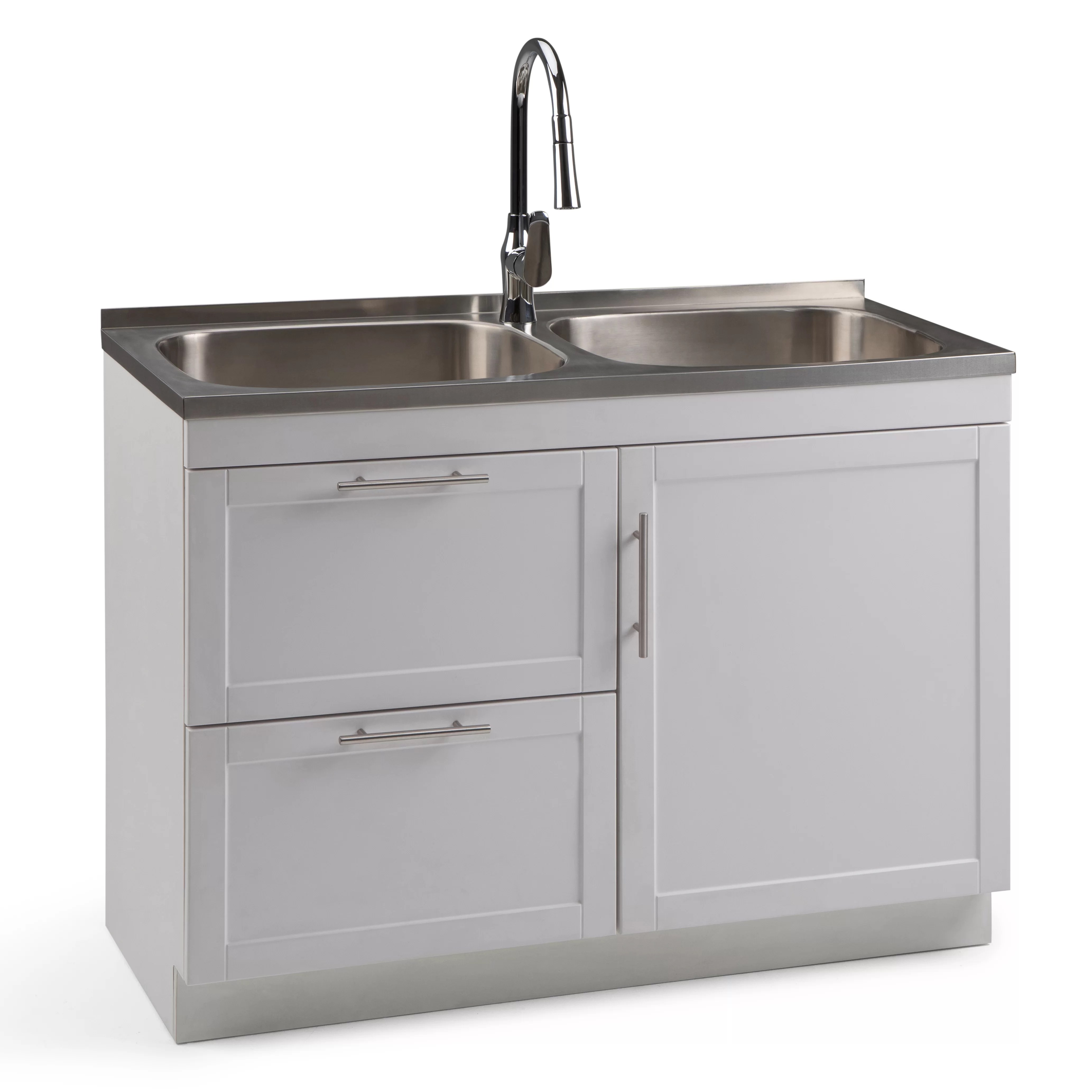 stainless steel laundry sink with 10 faucet utility sink heavy duty laundry passionedu vn