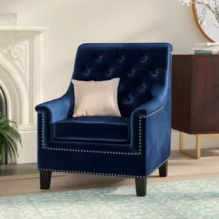 blue chair living room all white rooms navy wayfair ca highbury armchair