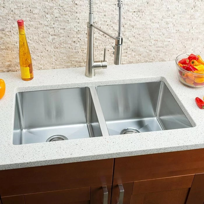hahn kitchen sinks affordable tables chef series 32 l x 18 w double bowl undermount sink reviews wayfair ca