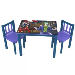 Batman Childrens Table And Chairs Chair Posture Exercises Wayfair Kids 3 Piece Rectangle Set