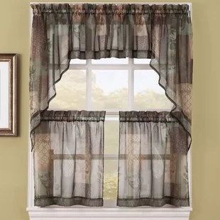 cafe kitchen curtains counter desk you ll love wayfair ca save