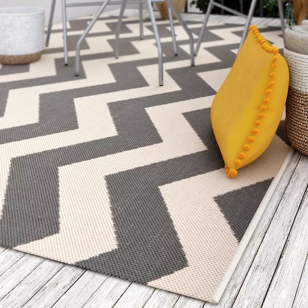 Wayfair Outdoor Teppich Urban Facettes Teppich Adrastus In Grau/beige