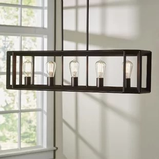 chairs for kitchen island cabinets diy wayfair bouvet 5 light pendant
