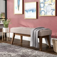 Ivy Bronx Faria Mid-Century Wood Entryway bench & Reviews ...