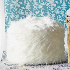 Fuzzy White Chair Cochrane Table And Chairs Wayfair Sallie Pouf