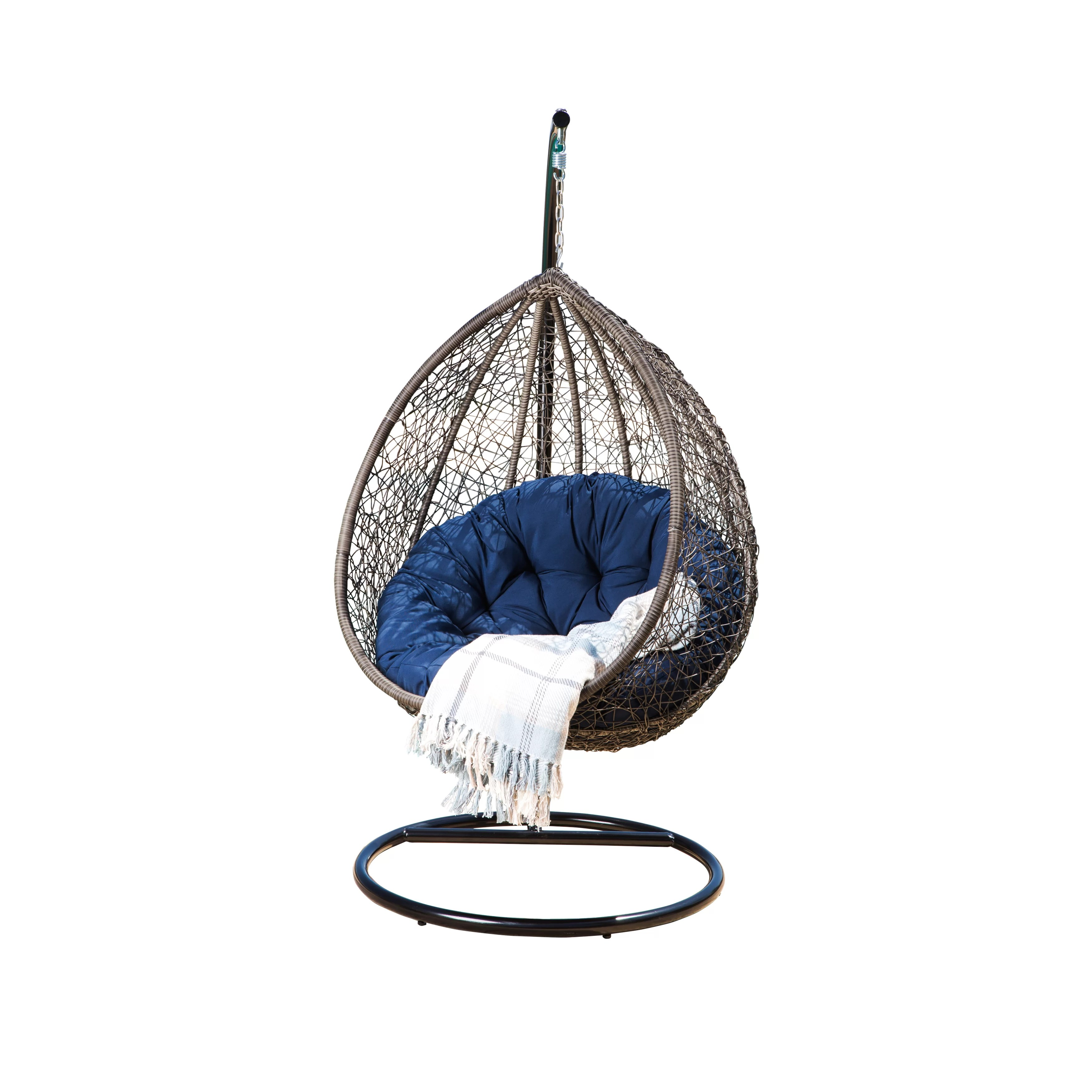 Swing Chair Stand Ostrowski Outdoor Wicker Swing Chair With Stand