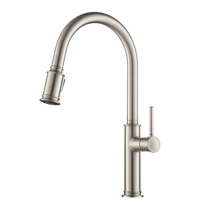 kitchen faucet ceramic drawer pulls kraus sellette pull down single handle reviews