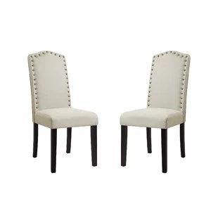 gray upholstered dining chairs blue wingback chair covers joss main