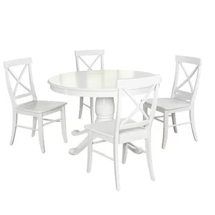 white table chairs chess and set kitchen dining sets joss main quickview blue