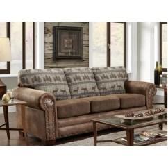Lodge Living Room Furniture Rental American Classics Deer Sofa Wayfair Ca