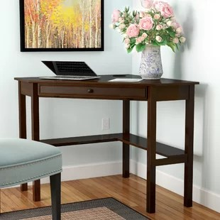 corner desk chair nursery with ottoman desks you ll love wayfair karbach