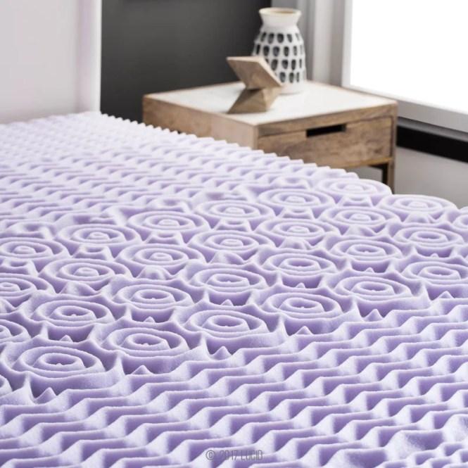 Zoned Lavender 2 Memory Foam Mattress Topper