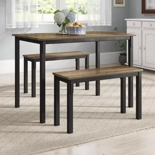 small kitchen table and chairs set accent for dining room with bench wayfair quickview