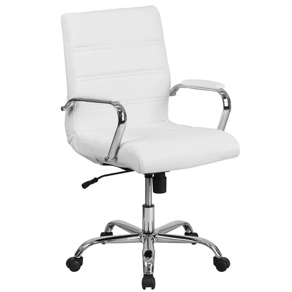 white rolling chair vladimir kagan nautilus orren ellis petrillo task reviews wayfair