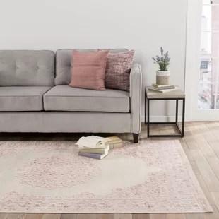 living room rugs best way to arrange furniture area joss main fontanne power loom ivory baby pink rug