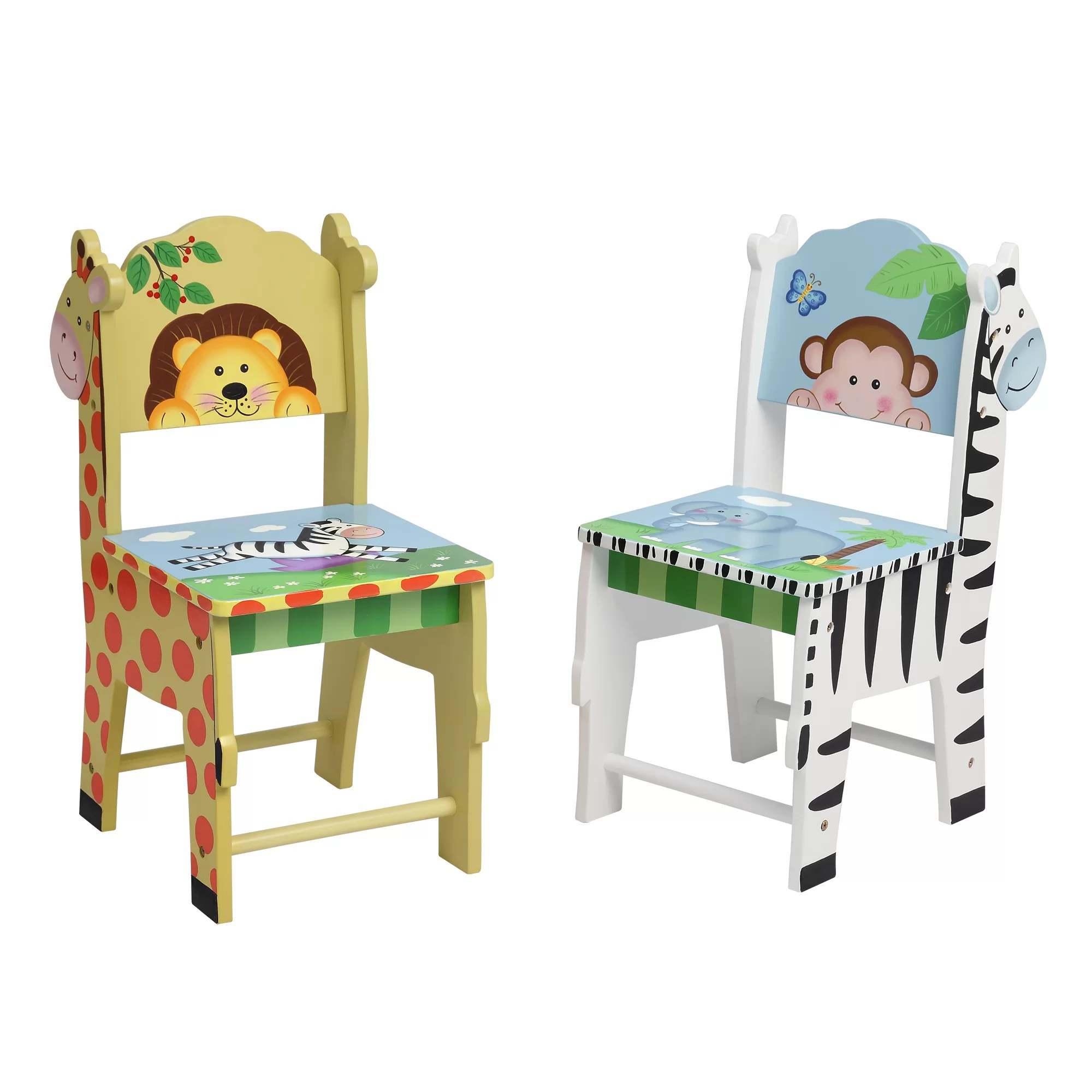 Safari Chairs 2 Piece Fantasy Fields Sunny Safari Kids Chair Set