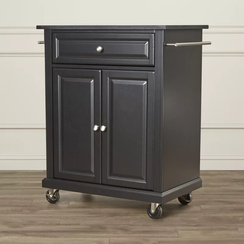 portable kitchen cart ways to redo cabinets darby home co pottstown with granite top wayfair copottstown