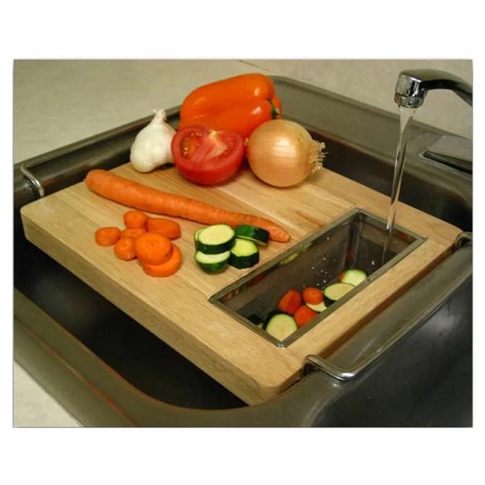 kitchen cutting boards light chef buddy sink board reviews wayfair
