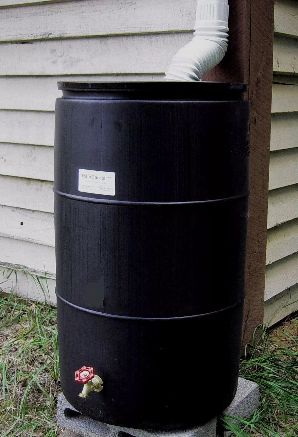 55 gallon rain barrel