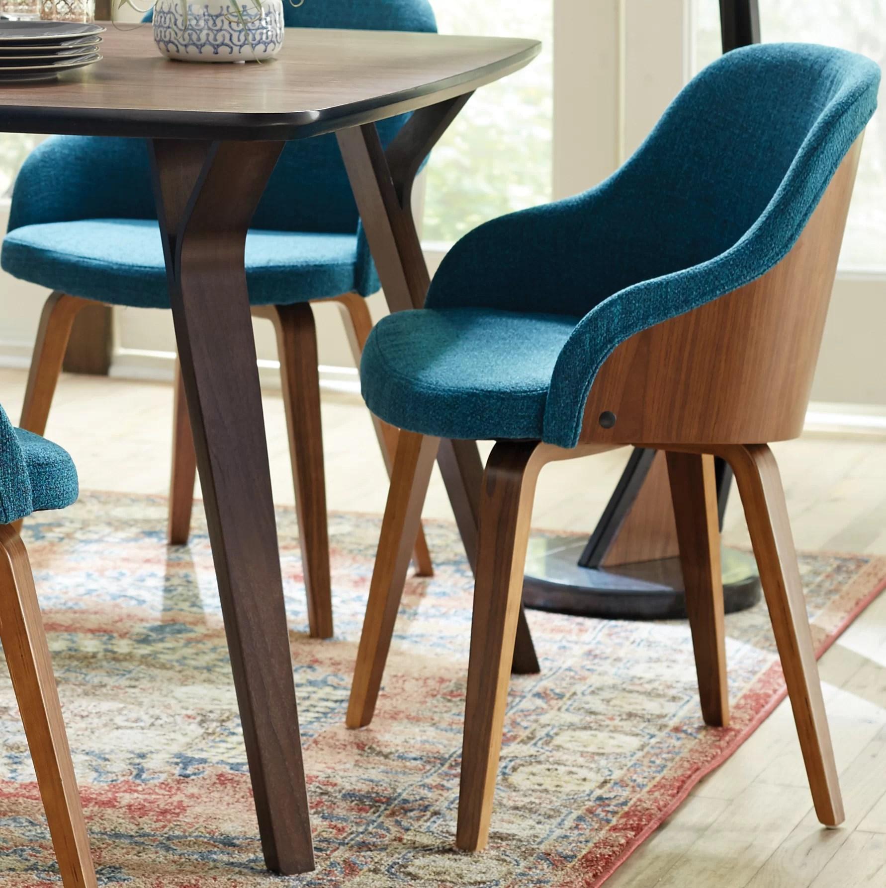 mid century barrel dining chair ergonomic godrej price george oliver brighton modern upholstered reviews wayfair
