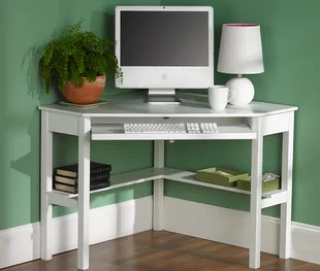Corina Solid Wood Corner Computer Desk