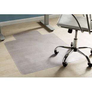 desk chair mats gooseneck rocking you ll love wayfair basics office hard floor straight edge mat