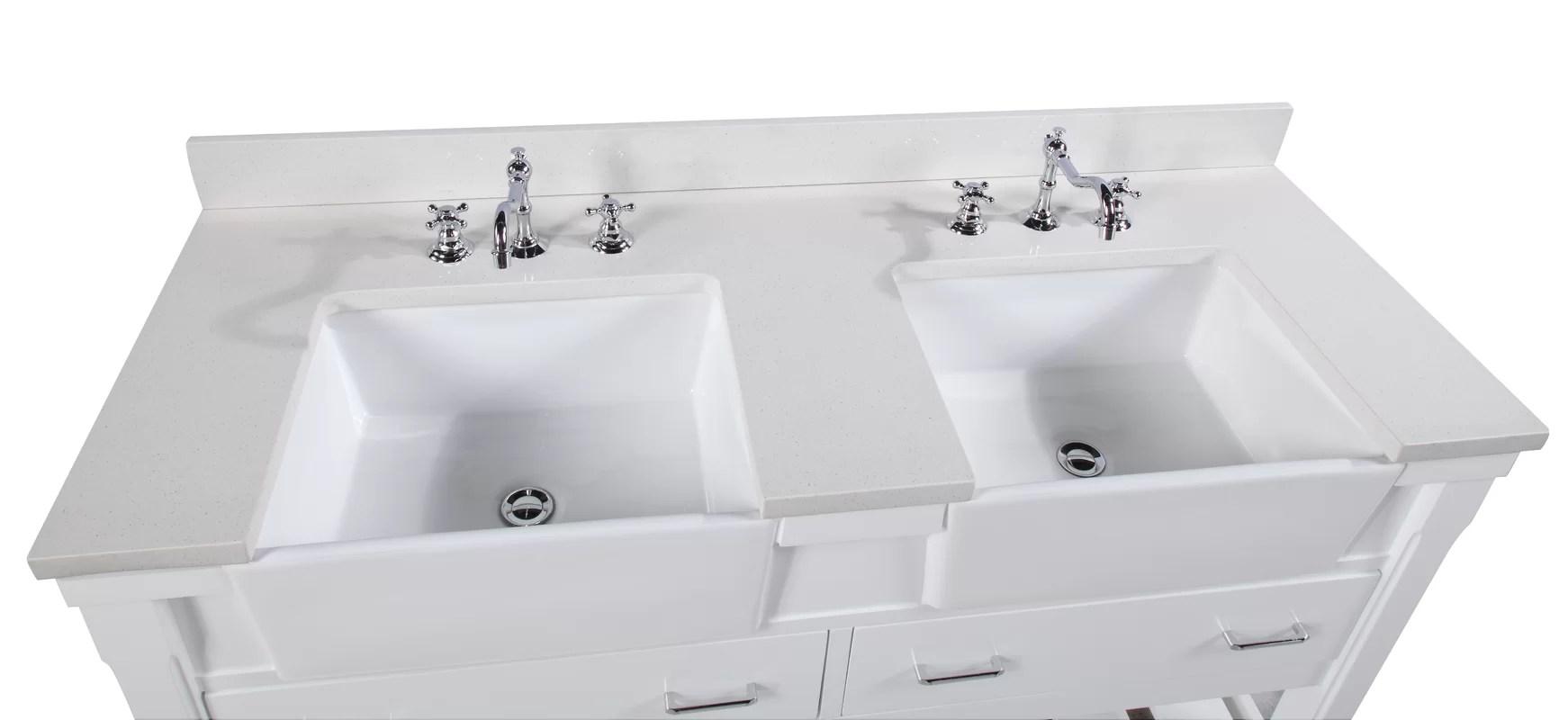 KBC Charlotte 60 Double Bathroom Vanity Set  Reviews  Wayfair