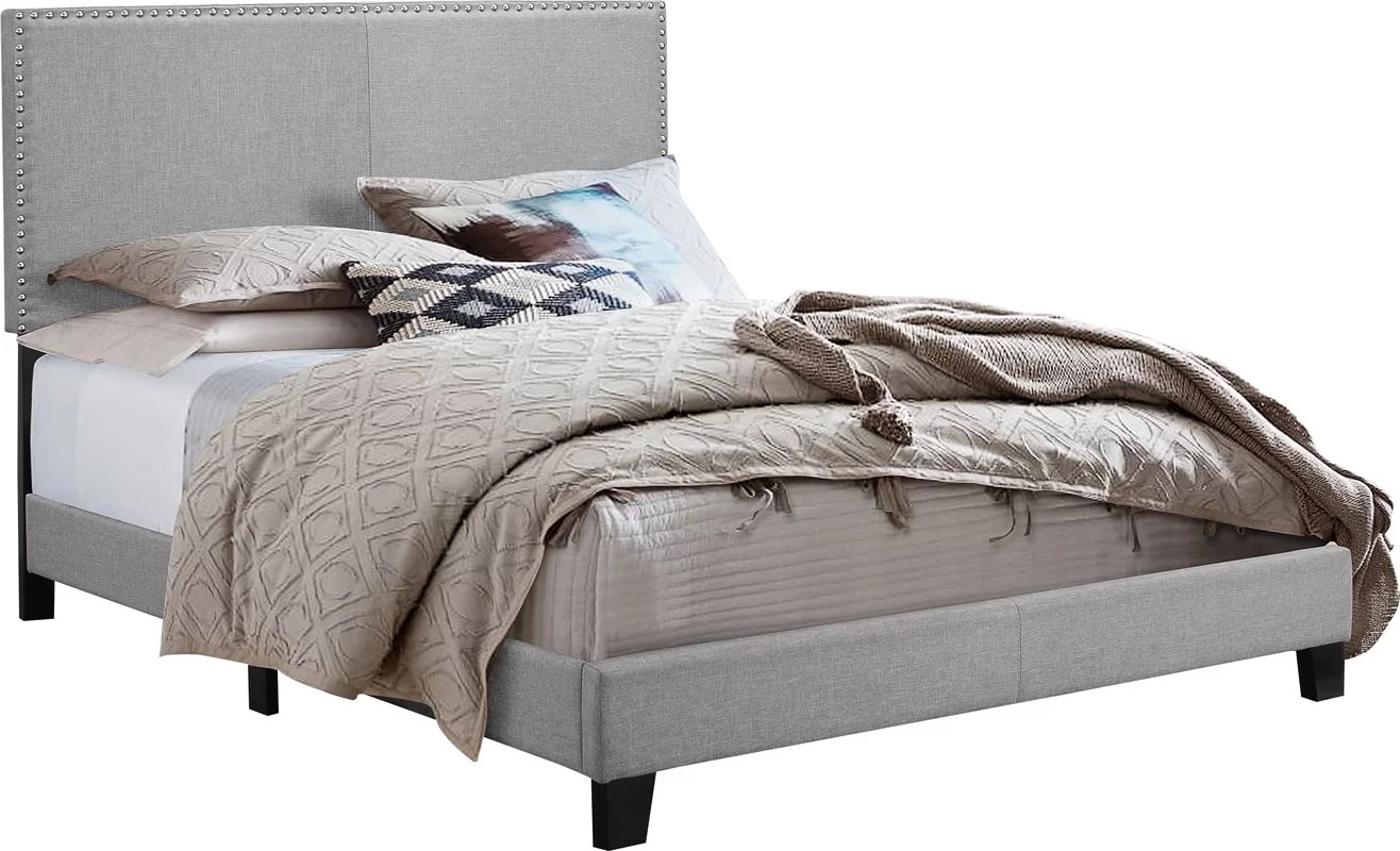 Crown Mark Erin Upholstered Panel Bed & Reviews