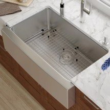 "Kraus 33"" X 21"" Farmhouse Kitchen Sink With Drain Assembly"