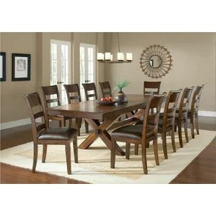 10 chair dining table set bean bag for babies 11 piece kitchen room sets you ll love wayfair fernson