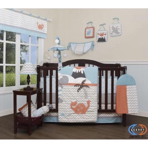 Harriet Bee Hollywood Baby Boy Dinosaurs Nursery 13 Piece Crib Bedding Set &