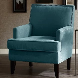 teal accent chair compact camping blue wayfair quickview