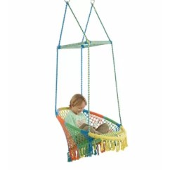 Swing Chair Lagos Toddler Rocking Indoor Chairs Hammock You Ll Love Wayfair With Woven Seat And Macrame Knots
