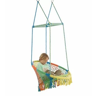 swing chair lagos simply bows and covers northumberland indoor chairs hammock you ll love wayfair with woven seat macrame knots