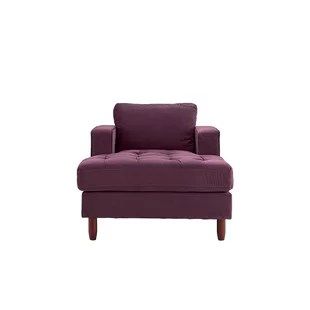 purple chaise lounge chair navy wing slipcover chairs you ll love wayfair quickview