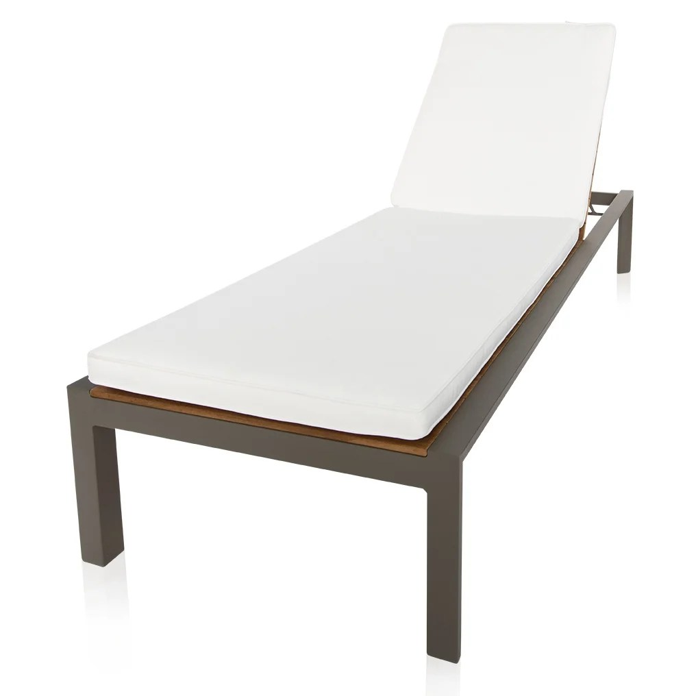 Teak Chaise Lounge Chairs Casillo Reclining Teak Chaise Lounge