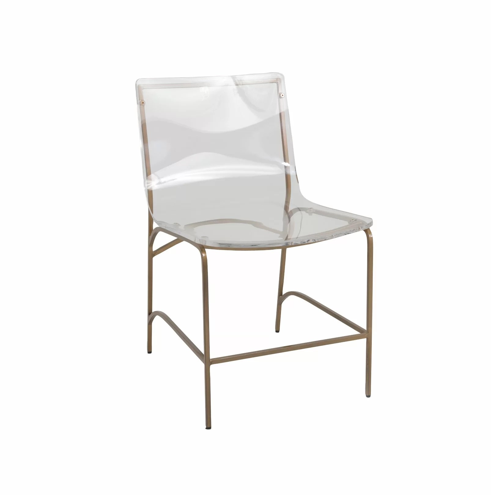 silver metal dining chairs leather chair with ottoman costco gabby penelope wayfair