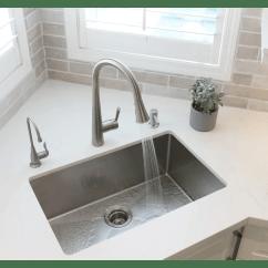 Stainless Steel Undermount Kitchen Sinks Small Portable Island Stylish 28 X 18 Sink With Basket Strainer Reviews Wayfair Ca