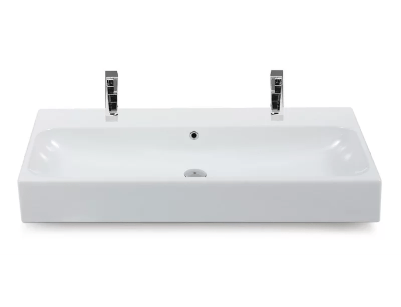 Pinto Ceramic Rectangular Vessel Bathroom Sink With