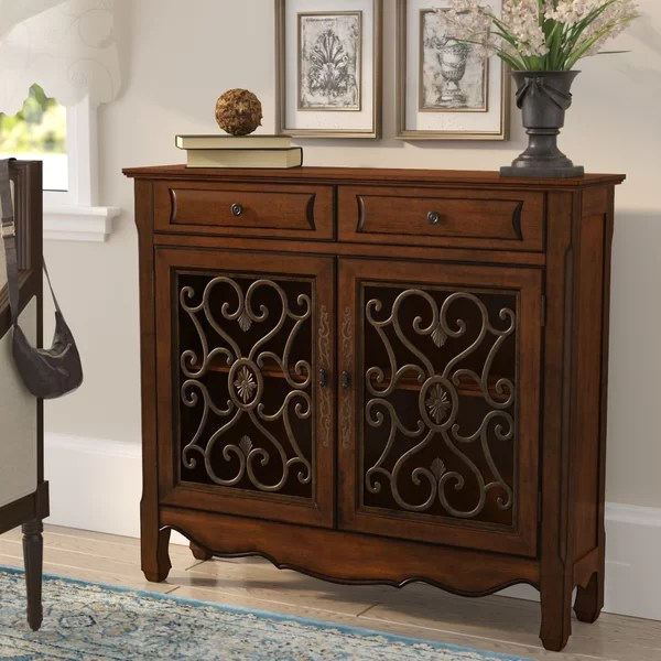 Mauzy 2 Drawer 2 Door Accent Cabinet  Reviews  Birch Lane