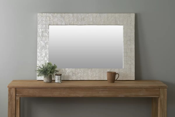 Beachcrest Home Mirror With Capiz Shell &