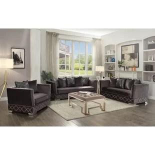 sofa set for living room design divider furniture 3 seat recliner wayfair ca stanford configurable