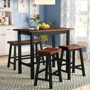 bar height kitchen table modern chairs counter dining sets you ll love wayfair opal 4 piece set