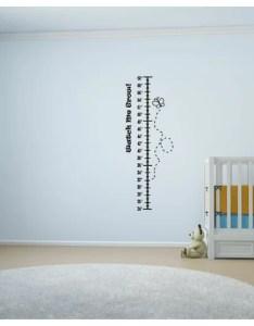 Fales watch me grow butterflies vinyl wall decal growth chart also harriet bee rh wayfair