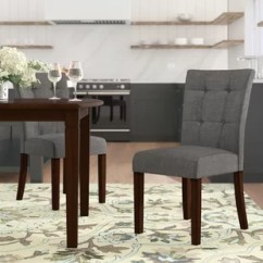 Gray Side Chair Wheelchair Zip Wire Kitchen Dining Chairs You Ll Love Wayfair Dyer Set Of 2