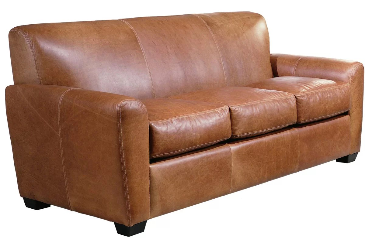 Omnia Leather Jackson Sofa Reviews Wayfair