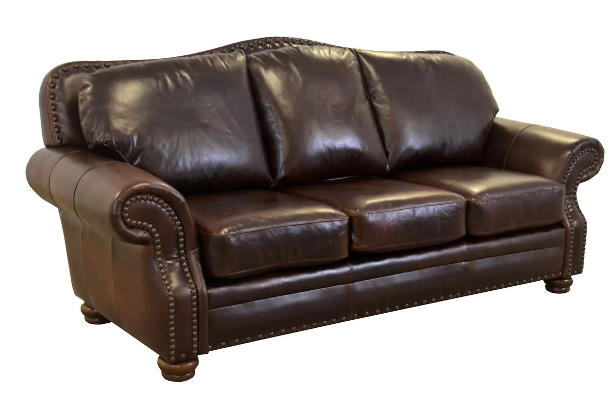 parker leather sofa reviews ornate westland and birch genuine top grain